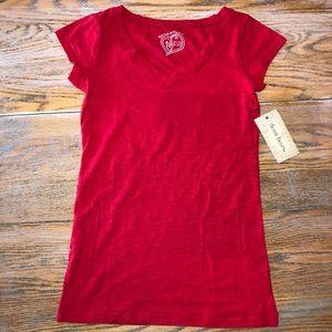 DEREK HEART 100% cotton V-neck T-shirt/NWT